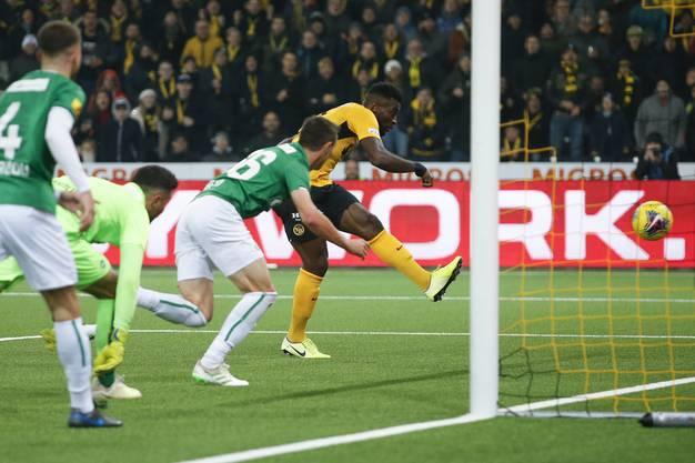 30 Tore hat Jean-Pierre Nsame in dieser Saison erzielt. Hier das 4:3-Siegtor gegen den FC St.Gallen - in einer Zeit im November 2019, als noch Fans zugelassen waren.