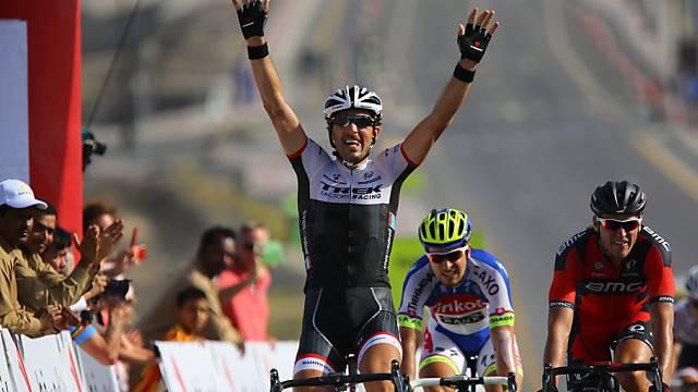 Fabian Cancellara (33) feiert im Oman seinen ersten Saisonsieg