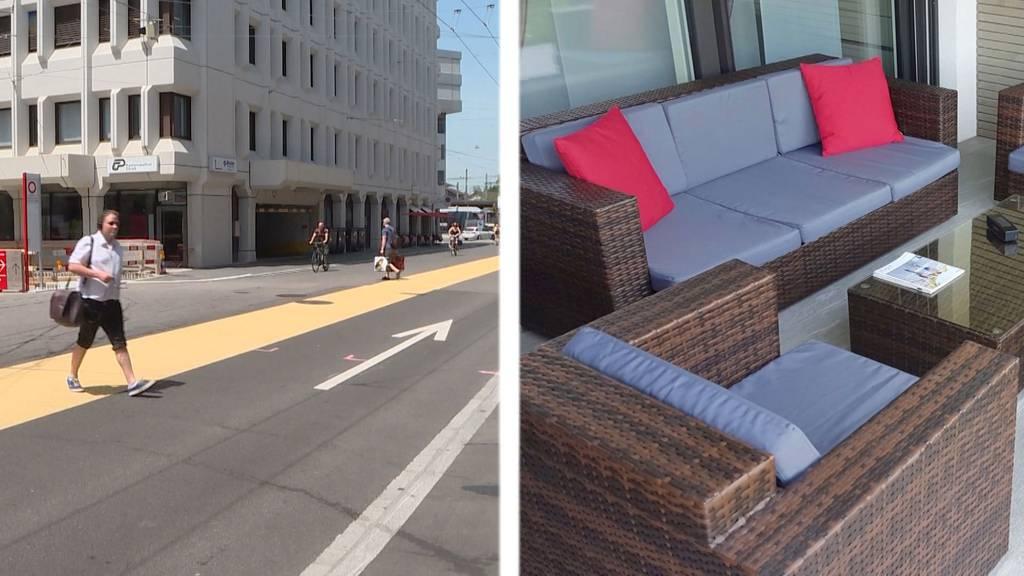 Mehrzweckstreifen bringt Passanten ins Grübeln / Dreister Diebstahl: Gartenlounge von Terrasse geklaut