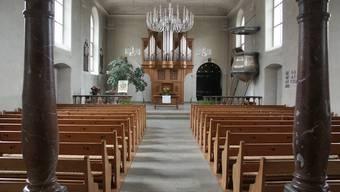 An vereinzelten Sonntagen bleibt die Kirche leer, im Bild diejenige in Schinznach-Dorf.