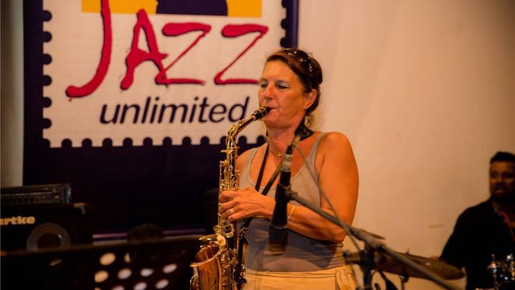 Francesca Meyer improvisiert gerne auf ihrem Saxofon.