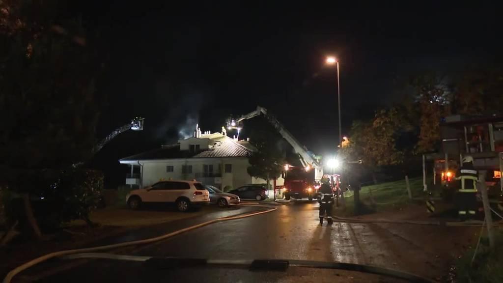 12 Personen bei Brand in Kriens evakuiert