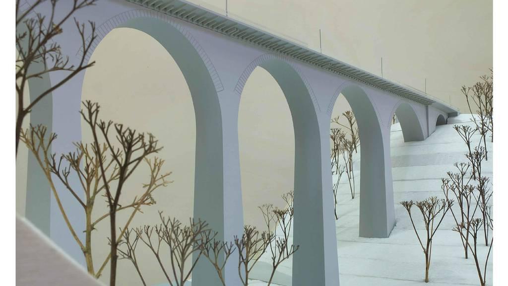Visualisierung der erweiterten Sitterbrücke.
