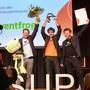Das sind die Gewinner des Solothurner Unternehmerpreises 2021 (v.l.): Reto Baumgartner, Urs Koller, Mike Müller.
