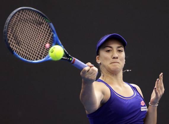 Kovinic (WTA 68) unterlag der Schweizerin in zwei Sätzen mit 6:1, 7:6 (7:5).