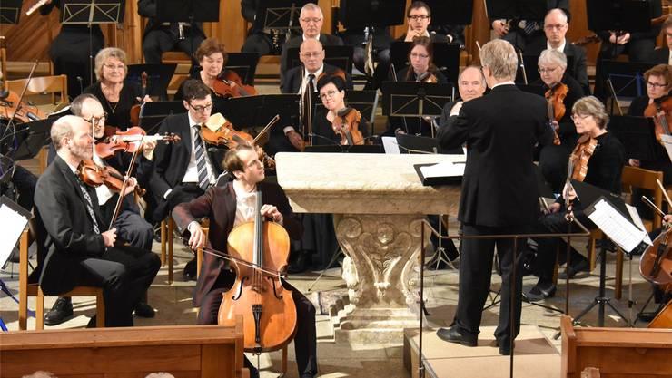 Cellist Christoph Croisé konzertiert mit dem Orchesterverein. Romeo Crivelli