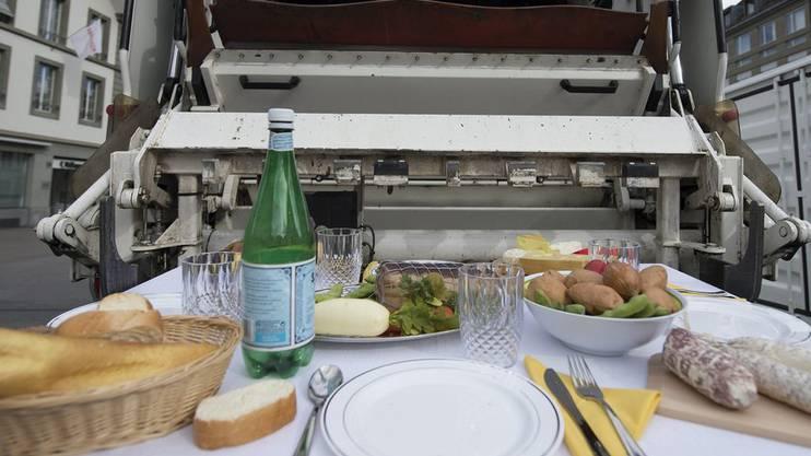 Ausstellung zum Thema Food Waste in Bern (Archivbild 2012).
