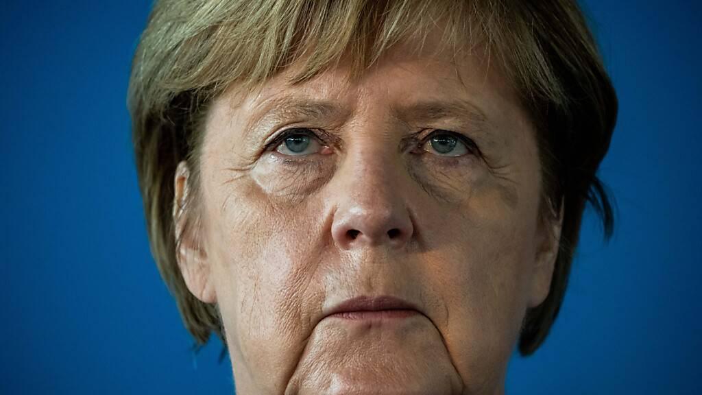 Bundeskanzlerin Angela Merkel während einer Pressekonferenz. Foto: Michael Kappeler/dpa