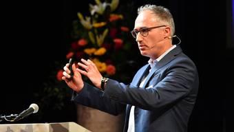 Christoph Joho, Co-Direktor von Weltklasse Zürich, referierte zum Thema Glaubwürdigkeit im Sport.