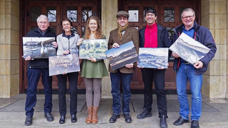 Von links nach rechts Die Bildspenden für den Oltner Kalender 2019 stammen von Kurt Schibler, Margrit Stäheli, Anna-Lena Holm, Christian Amoser, Tobias Oetiker und Bruno Kissling. Nicht abgebildet sind Markus Fischer und Benjamin Widmer.