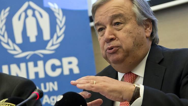 Lobt Deutschlands Flüchtlingspolitik: UNHCR-Chef Antonio Guterres