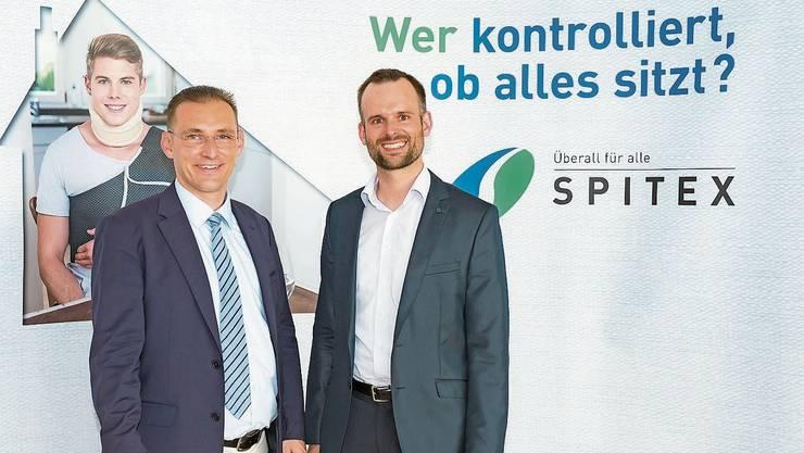 Vorstandspräsident Martin Imhof (rechts) und Geschäftsleiter Daniel Lukic.