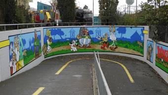 Graffiti Bahnunterführung