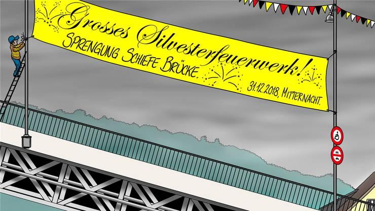 Vorschlag unseres Karikaturisten, wie das Fahrverbotsproblem endgültig gelöst werden könnte.