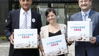 Haderte mit der verpassten Chance - und konnte dank der Zusage für Lausanne 2020 trotzdem feiern: Gian Gilli (links)