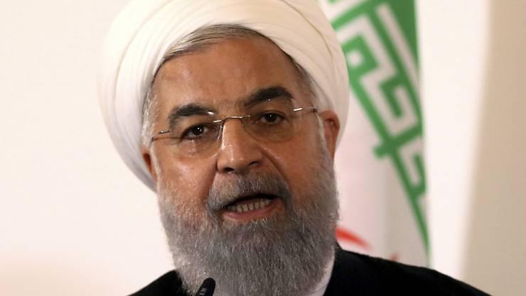 Wirft den USA psychologische Kriegsführung vor: Irans Präsident Hassan Ruhani, hier an einer Medienkonferenz anfangs Juli in Wien.