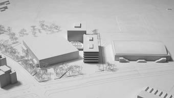 Die Visualisierung vom zukünftigen Sportzentrum Wincity.