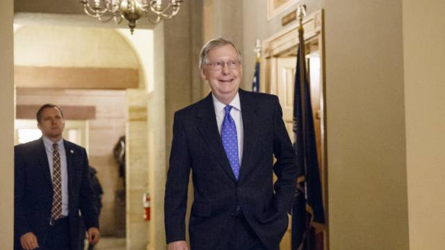 Hat gut lachen: Mitch McConnell in Washington