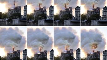 Die Kathedrale Notre Dame brennt. (Bild:AP)