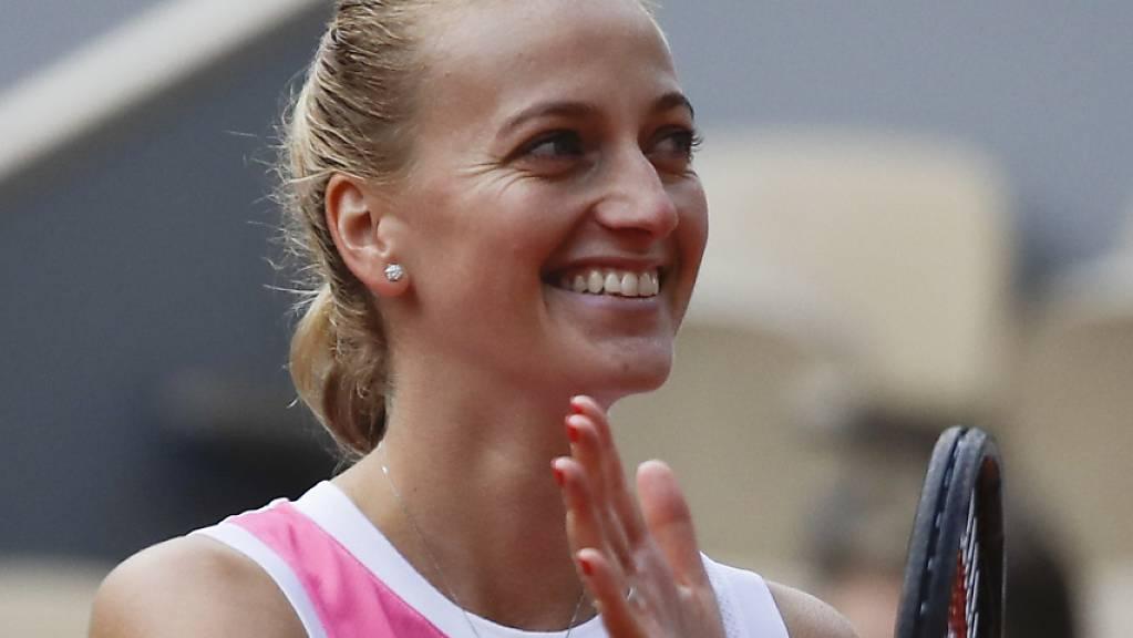 Sie hat gut lachen: Petra Kvitova steht am French Open zum zweiten Mal im Halbfinal.