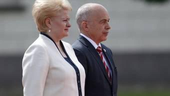 Dalia Grybauskaite empfängt Bundespräsident Ueli Maurer in Vilnius