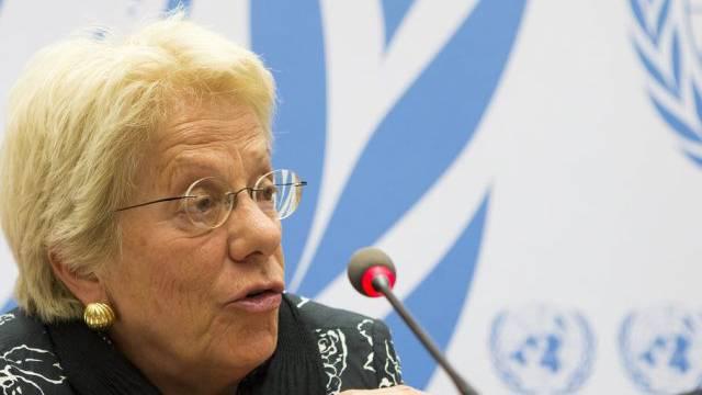 Carla del Ponte ist Mitglied der UNO-Sonderkommission für Syrien