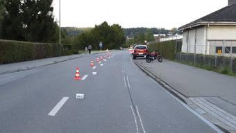Das Polizeifoto der Unfallstelle in Dübendorf.