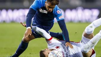 Trotz Chancenplus: Der FC Zürich, hier mit Kevin Rüegg, kann den FC Sion im Tourbillon nicht bodigen