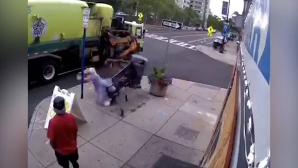 Beinahe «entsorgt»: Müllabfuhr greift Frau auf Parkbank an