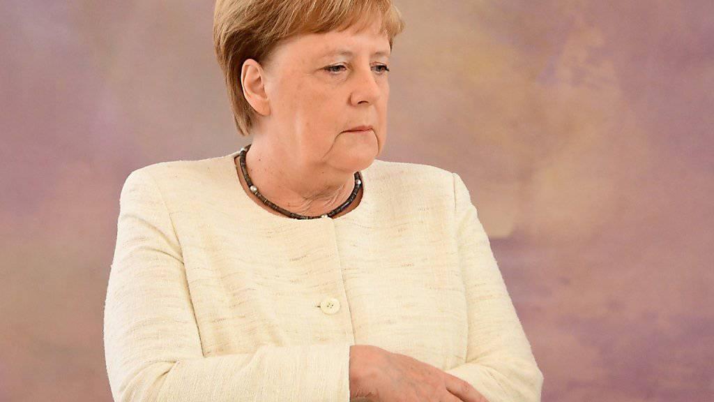 Zwei Zitteranfälle in der Öffentlichkeit binnen weniger Tage: die deutsche Kanzlerin Angela Merkel. (Archivbild)
