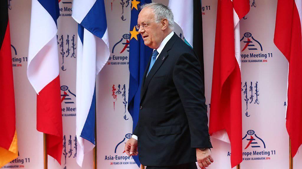 Viele Staats- und Regierungschefs äusserten sich am ASEM-Gipfel in Ulan Bator entsetzt über den Anschlag in Nizza, unter ihnen Bundespräsident Schneider Ammann.