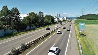Das Astra will den Pannenstreifen bei Rheinfelden zur Fahrspur umnutzen. Das Astra will den Pannenstreifen bei Rheinfelden zur Fahrspur umnutzen.