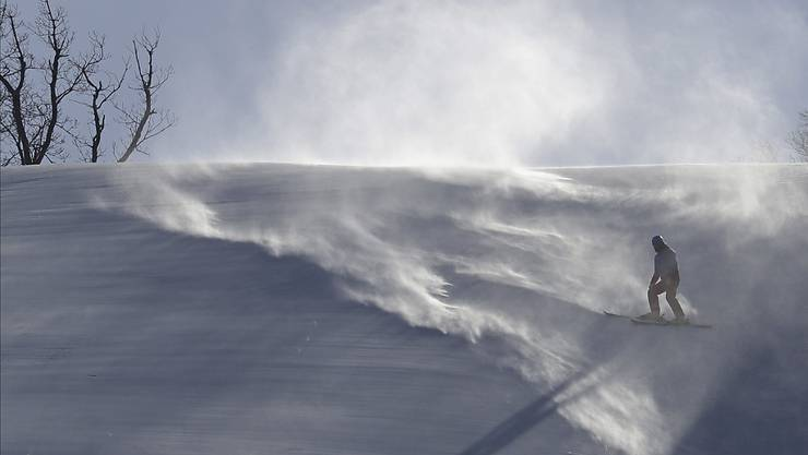 Der Wind war erneut zu stark für ein alpines Rennen