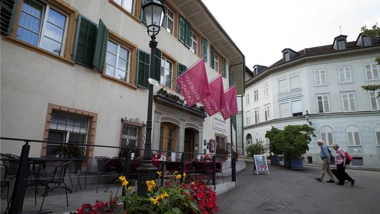 Die Badener Hotels – im Bild das Hotel Blume im Bäderquartier – zählten viele Gäste im Spätsommer. ASP