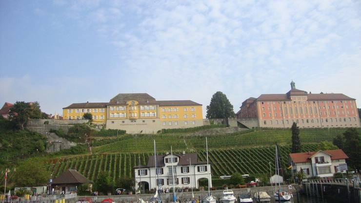 interessanter Blick auf Meersburg