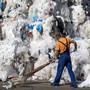 Abfallberg aus Plastik bei einer Recycling-Frima im thurgauischen Eschlikon. (Archivbild)