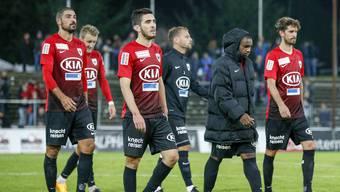 Die Spieler des FC Aarau stecken in einer Krise. Diese Saison gab es noch keinen einzigen Sieg.