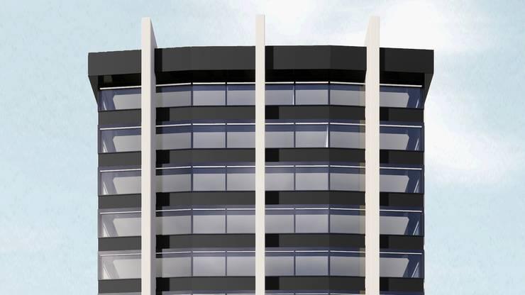 So wird die Südfassade des Coop-Hauptsitzes aussehen.
