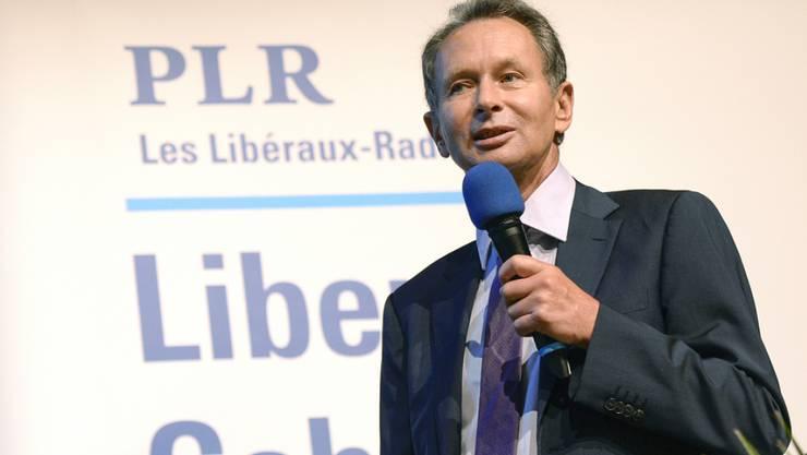 Für FDP-Parteipräsident Philipp Müller ist es das zweitletzte Mal, dass er eine Delegiertenversammlung eröffnen kann. (Archivbild)
