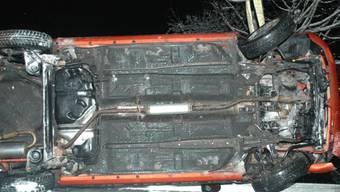 Der zerstörte Wagen