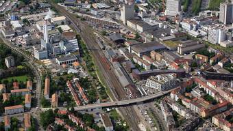 Eines der aktuellen Entwicklungsgebiete der Stadt befindet sich rund um den Bahnhof St. Johann mit dem Lysbüchel-Areal. Erich Meyer