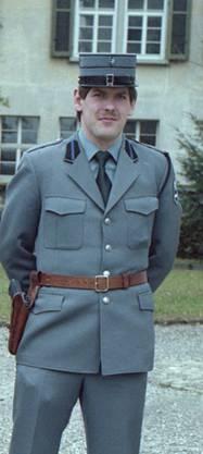 Heiner Hossli in der Uniform der Kantonspolizei Aargau, als er die Ausbildung begann.