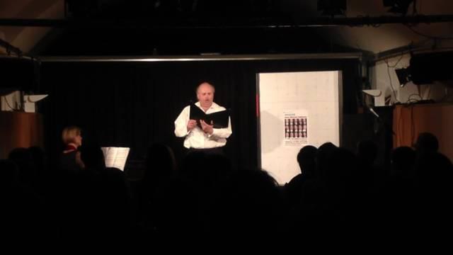 Hans Michael Sablotny berührt das Publikem