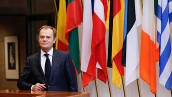 Donald Tusk, der neue Präsident des Europäischen Rats, beim gestrigen Gipfeltreffen in Brüssel.