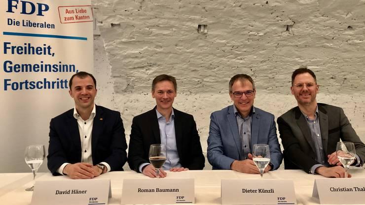 David Häner, Roman Baumann, Dieter Künzli, Christian Thalmann.