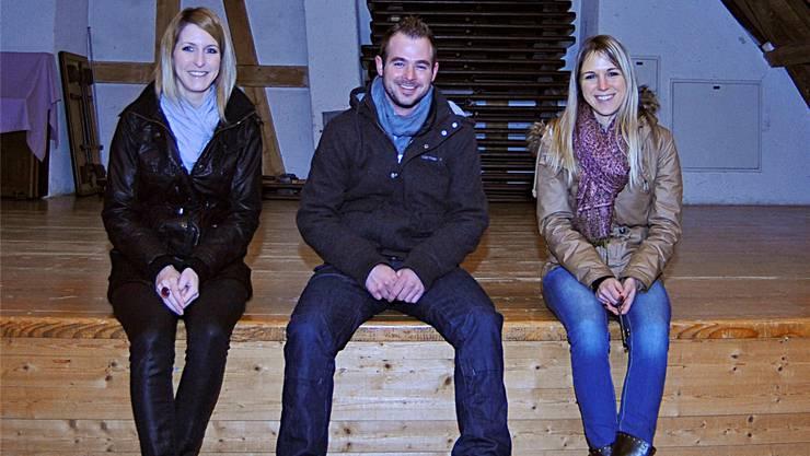 Celina Scheidegger, Christian Meichtry und Romana Bur sind die treibenden Kräfte hinter dem «AupäRuusch».