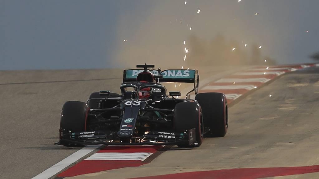 Mercedes mit der Nummer 63 statt 44: George Russell sitzt am zweiten Rennwochenende in Bahrain im Cockpit des am Coronavirus erkrankten Lewis Hamilton