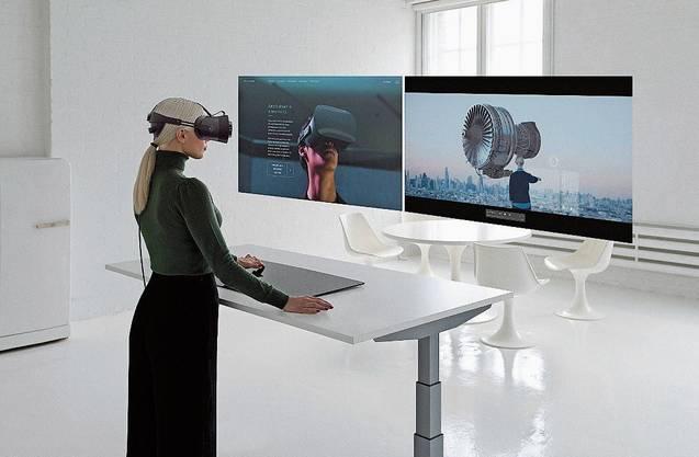 So stellen sich Techvisionäre den Arbeitsplatz der Zukunft vor. Die Technologie existiert in Ansätzen bereits, muss jedoch reifen.