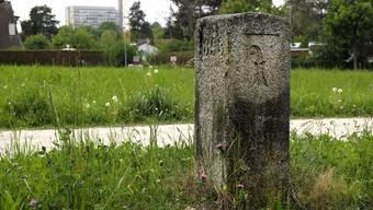 Grenzsteine zwischen Baselland und Basel-Stadt, hier Predigerhofstrasse auf dem Bruderholz