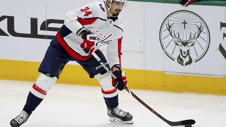 Jonas Siegenthaler erhält bei den Washington Capitals zu Beginn der NHL-Saison viel Eiszeit und rechtfertigt das Vertrauen mit guten Leistungen
